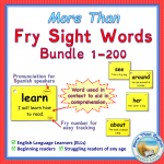 Fry Sight Word Cards